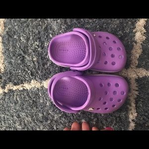 Purple crocs
